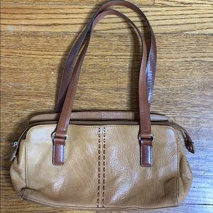 Vintage Fossil Pebbled Leather Bag
